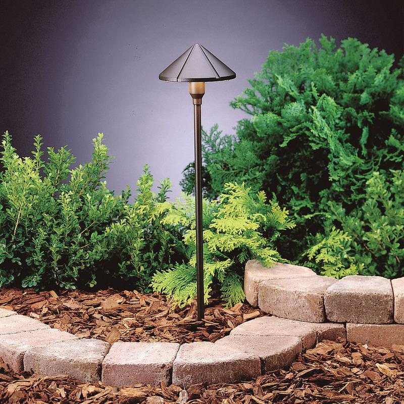 Kichler 15826AZT27 1-Light LED Path Lighting 4.3 Watt 12 Volt 2700K Textured Architectural Bronze