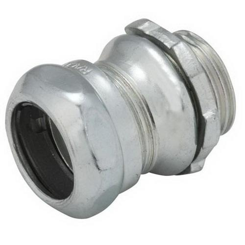 Raco 2903 Electroplated Zinc Steel Non-Insulated EMT Compression Connector 3/4 Inch
