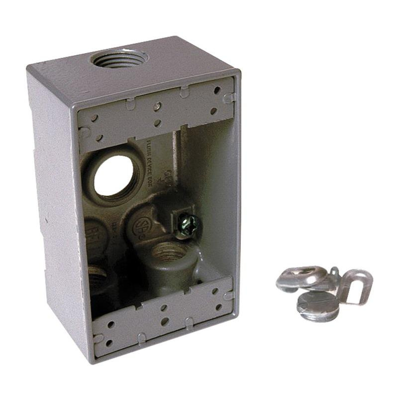 Raco 5321-0 Powder Coated Die Cast Aluminum 1-Gang Weatherproof Electrical Box With Lug 2-3/4 Inch x 4-1/2 Inch x 2 Inch 18.3 Cubic-Inch Bell®