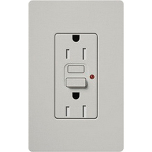 lutron scr-15-gfst-pd tamper-resistant self-test gfci receptacle 15-amp  125-volt palladium - gfci & afci - receptacles - wiring devices - wiring  devices