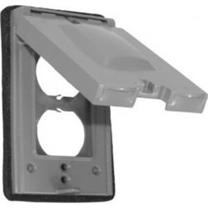 Orbit Industries 1C-DV Powder Coated Die Cast Zinc 1-Gang Weatherproof Device Cover 2-3/4 Inch x 4-1/2 Inch
