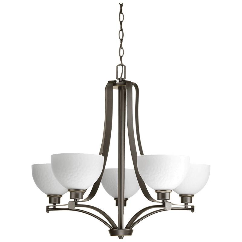 Progress Lighting P4271 20 5 Light Indoor Chandelier 100 Watt 120 Volt Antique Bronze Legend