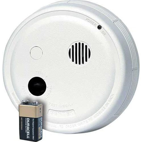 Gentex 9123 9000 Series Single/Multi Station Photoelectric Smoke Alarm With 9 Volt DC Alkaline Battery Backup 120 Volt AC