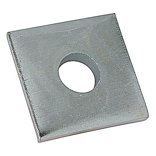 1 Hole 3//8 Electro-Galvanized Unistrut 1-5//8 Square Washer Lot of 100
