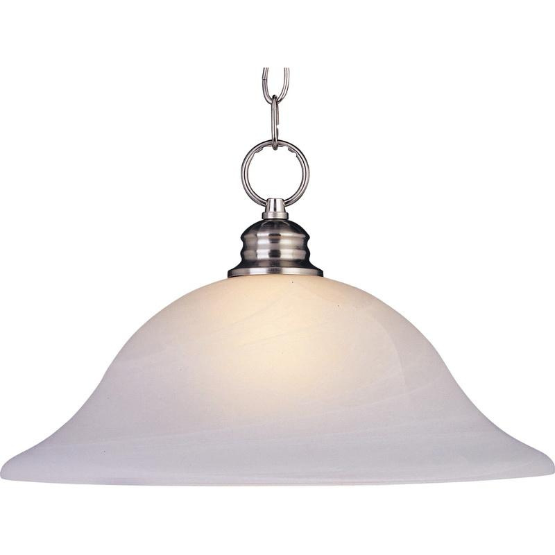 Maxim Lighting 91076MRSN 1-Light Pendant Fixture 100 Watt 120 Volt Satin Nickel Essentials - 9106x
