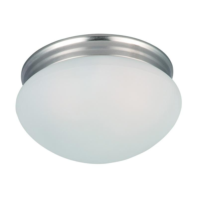 Maxim Lighting 5885FTSN 2-Light Flush Mount Ceiling Fixture 60 Watt 120 Volt Satin Nickel Essentials - 588x