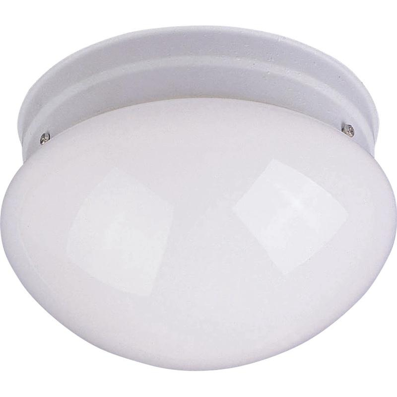 Maxim Lighting 5880WTWT 1-Light Flush Mount Ceiling Fixture 60 Watt 120 Volt White Essentials - 588x