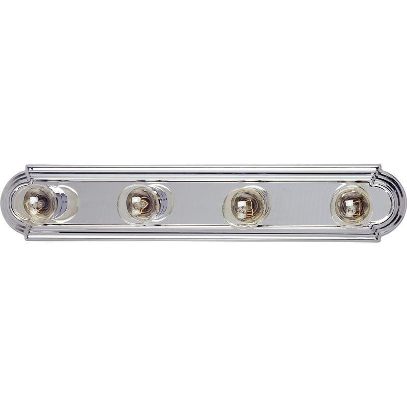 Maxim Lighting 7124PC 4-Light Classic Up/Down Mount Bath and Vanity Fixture 100 Watt 120 Volt Polished Chrome Essentials Series