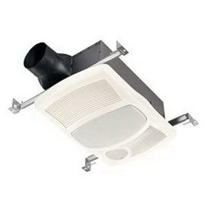 Nutone 765HL Bathroom Fan With Light And Heater 120-Volt 100 CFM at  0 1-Inch Static Pressure