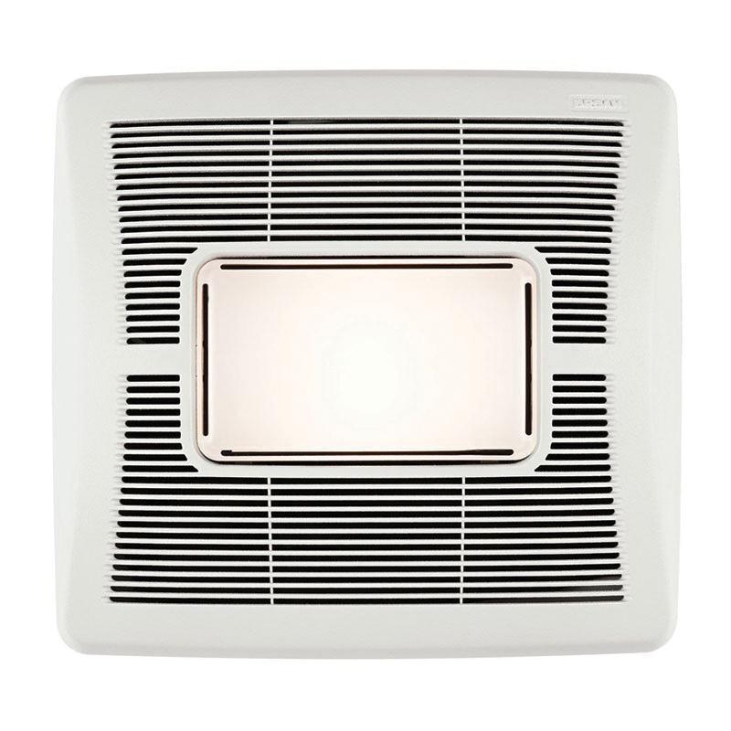 Nutone 50 Cfm Ceiling Exhaust Bath Fan With Light 763n: Nutone A50L Single Speed Bathroom Exhaust Fan With Light