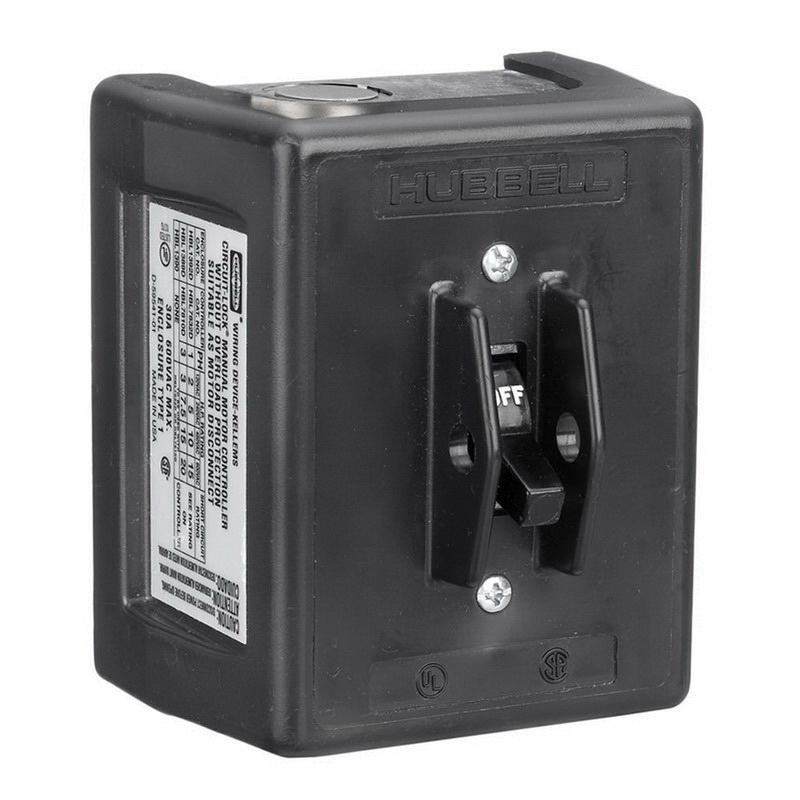 Hubbell-Wiring HBL1389D 3-Pole Manual Motor Controller Disconnect Switch 600 Volt AC 30 Amp Circuit-Lock®