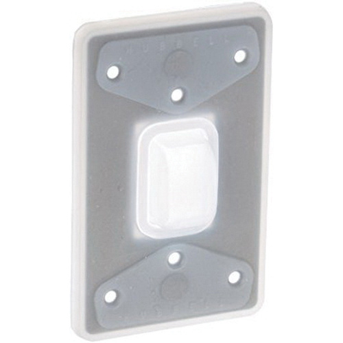 Hubbell Wiring Hbl1795 Silicone Rubber Weatherproof Bubble Plate