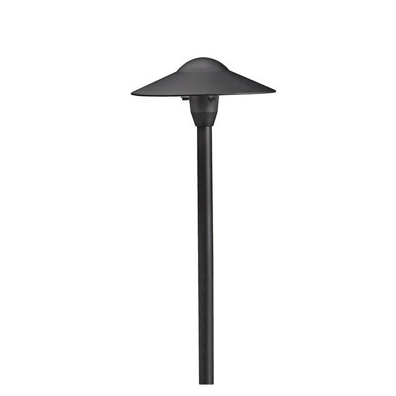 Kichler 15310BKT 1-Light Dome Path and Spread Landscape Lighting 16.25 Watt 12 Volt Textured Black
