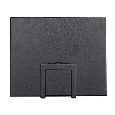 FSR FL-500P-BLK-C Steel Floor Box Cover With Hinged Door In Black Sandtex 10.5 Inch x 0.125 Inch x 12.5 Inch FL-500 Series