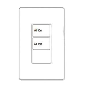 Cooper Industries RC-2TLB-OS4-W Wallmount 2 Large Button Room Controller Wallstation 24 Volt DC White Greengate®