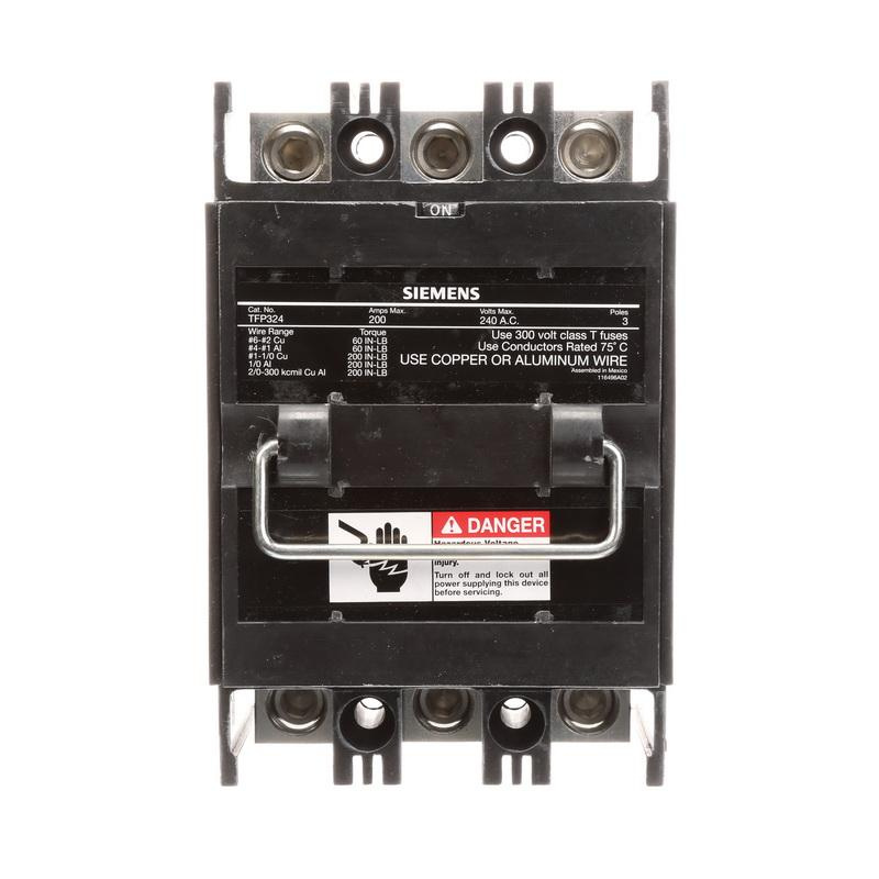 100 Amp Disconnect >> Siemens TFP324 1-Phase 3-Fuse Fusible Pull-Out Disconnect ...