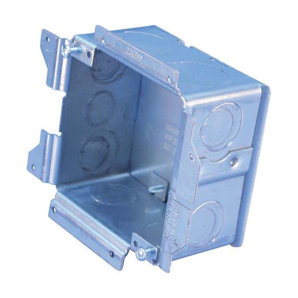 Erico A1SF0GS Steel All-In-One Electrical Outlet Box 5-3/4 Inch x 5-1/8  Inch x 2-1/2 Inch 32 8 Cubic-Inch Caddy®
