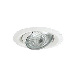 buy online 58d8f 5ec5e Cooper Lighting 5130WH Self-Flanged 5-Inch 35-Degree Tilt Trim Round Matte  White Eyeball and Trim Halo®