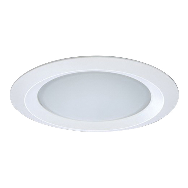 best loved cc94a 5c838 Halo 5150WH 5-Inch Round Self-Flanged Low Profile Dome Lens Trim With  Reflector Matte White