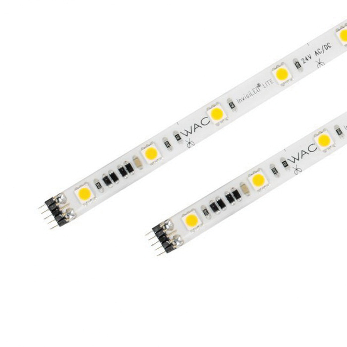 WAC Lighting LED-T2430L-5-WT LED Tape Strip Light 2-Watt 24-Volt 5-ft  675-Lumens 85 CRI 3000K InvisiLED® LITE