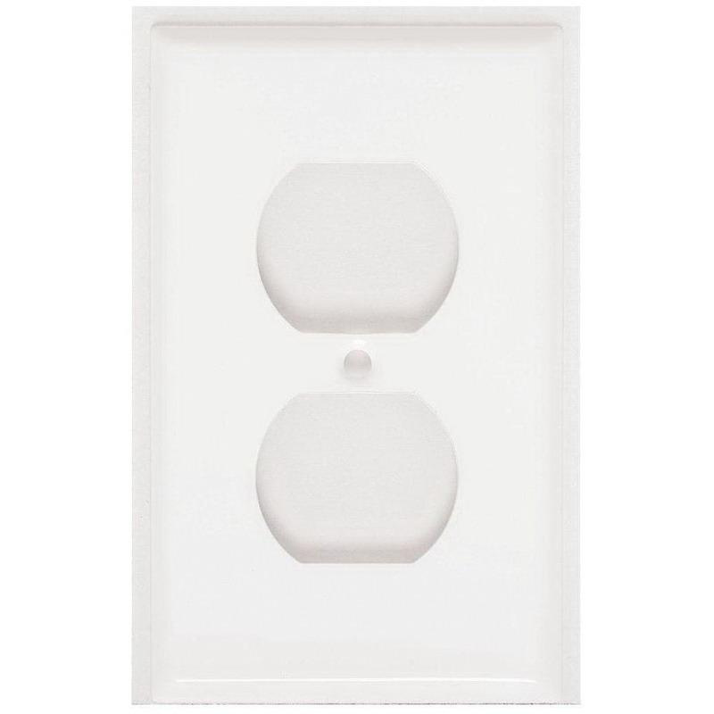 Mulberry 86101 Steel Standard Size 1-Gang Wallplate (1) Duplex Receptacle White