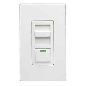 Leviton IPI06-1LZ 120 Volt AC at 60 Hz 1-Pole Electro-Mechanical 3-Way Slide Dimmer With LED Locator White Face Decora® IllumaTech®