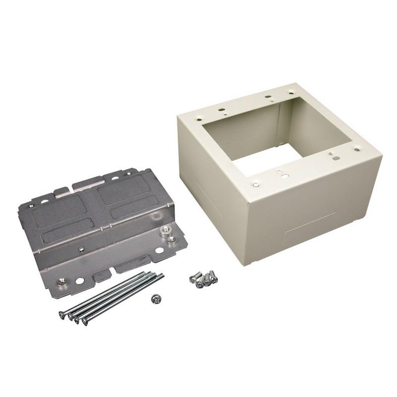 Wiremold V2444-2LS Device Box Fitting Steel Ivory For Use With 2400® Series Dual-Channel Raceway