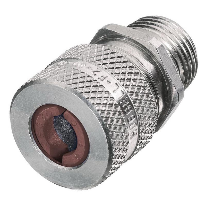 Hubbell-Wiring SHC1024 Aluminum Form F2 Cord Connector 1/2 Inch 0.5 - 0.62 Inch Kellems®