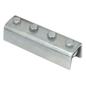 B-Line B172-22AZN Zinc Electroplated Steel 4 Hole Straight U-Profile Splice Clevis