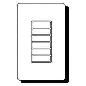Cooper Industries RC-6TSB-TS7-W Wallmount 6 Small Button Room Controller Wallstation 24 Volt DC White Greengate®