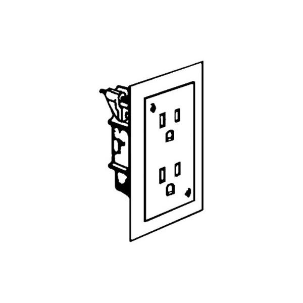 hubbell-wiring wdrdu15wt standard decorator duplex receptacle 15-amp 125-volt white