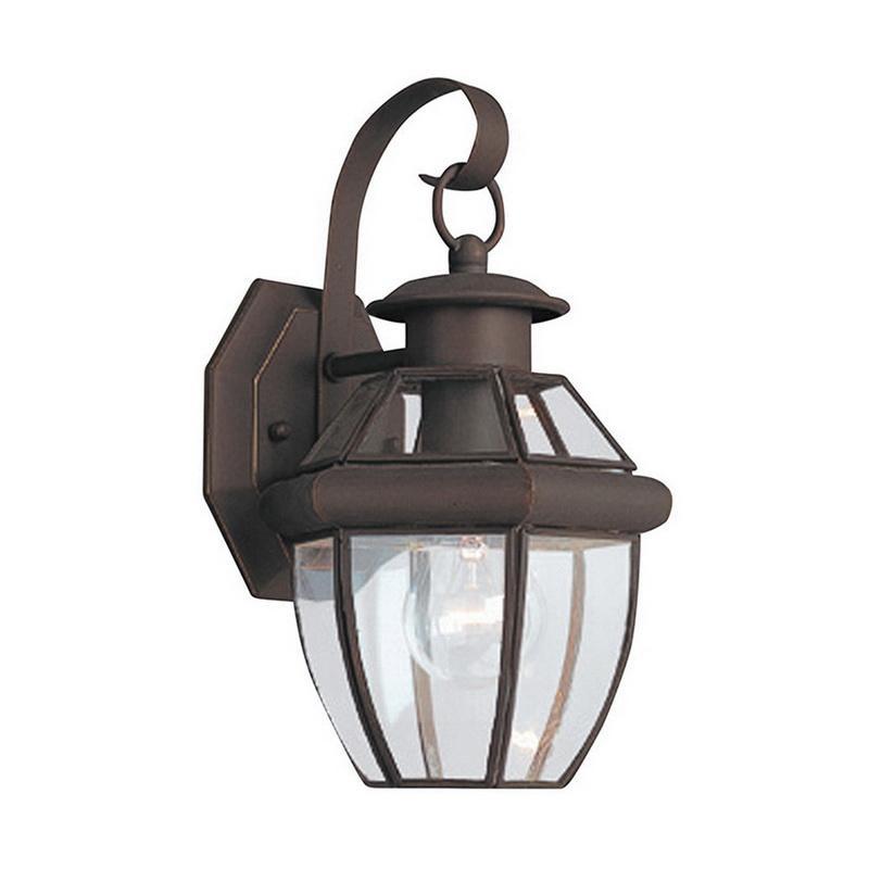 Sea Gull Lighting 8037-71 1-Light Outdoor Wall Lantern 100 Watt 120 Volt Antique Bronze Lancaster