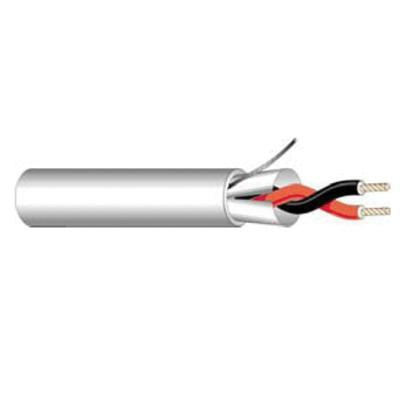 West Penn Wire 293 Stranded Bare Copper 100% Aluminum Polyester Foil Non-Plenum Rated Communication Cable 18/2 Gray