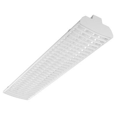 Lithonia Lighting TMS5HB-2-54T5HO-ND-MVOLT-GEB10PS 2-Light Stem/Surface Mount Low Profile Direct/Indirect Tandem Channel Fluorescent High Bay Fixture 54 Watt 120 - 277 Volt High Gloss Baked White Enamel