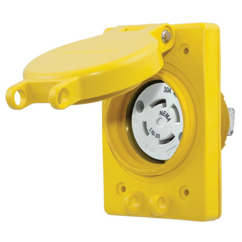 P on Hubbell Watertight Receptacles Twist Lock