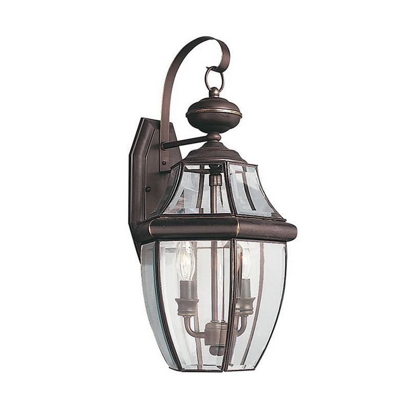 Sea Gull Lighting 8039-71 2-Light Outdoor Wall Lantern 40 Watt 120 Volt Antique Bronze Lancaster