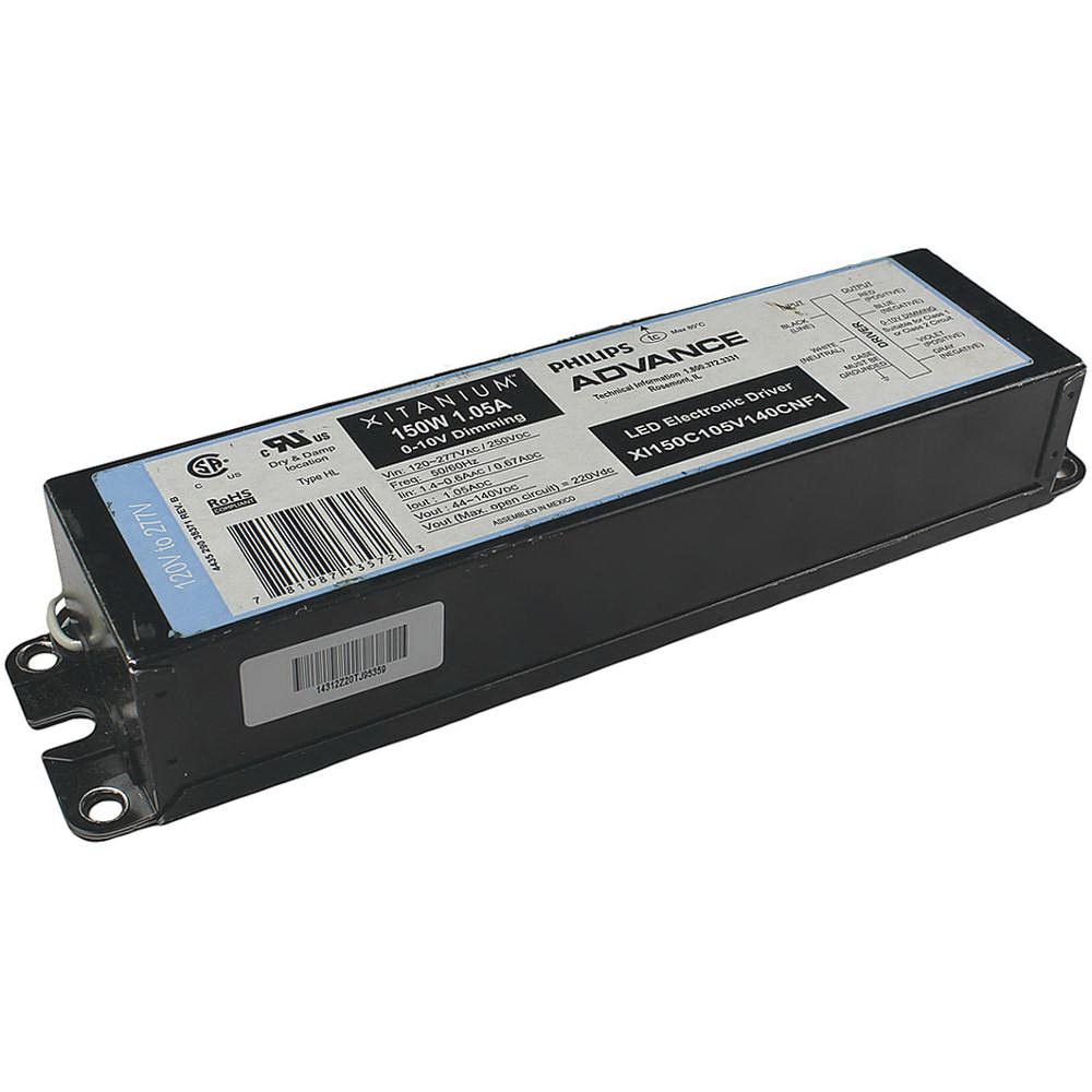 Philips Advance XI150C105V140CNF1 Dimmable LED Driver 120 - 277 Volt AC Input 44 - 140 Volt DC Output 150 Watt Output Xitanium
