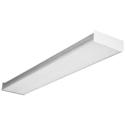 Lithonia Lighting SB232MVOLTGEB10IS 2-Light Stem/Surface Mount Square-Basket Wraparound Fixture 32 Watt 120 - 277 Volt High Gloss Baked White Enamel