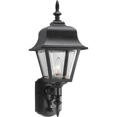 Progress Lighting P5656-31 1-Light Wall Sconce 100 Watt 120 Volt Black Painted Mansard Roof