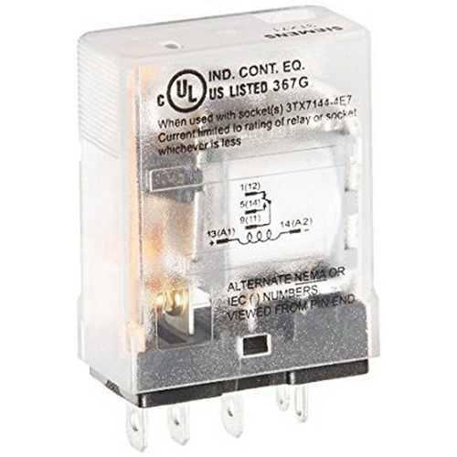 Sie 3TX7110-5BC03C 1-Pole SPDT DC Operated Relay 20-Amp ... on