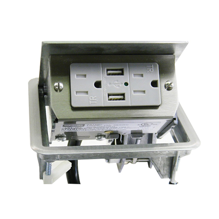hubbell wiring wsbusb2x2alu die cast aluminum 2x2 usb work surface rh hzelectric com