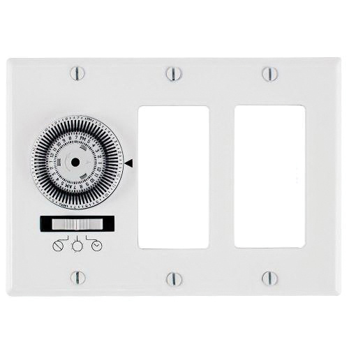 Intermatic KM2ST-3D 120-Volt AC at 60-Hz 20-Amp 1-Pole 24 Hour SPST KM2  Series Mechanical Heavy-Duty In-Wall Timer Switch
