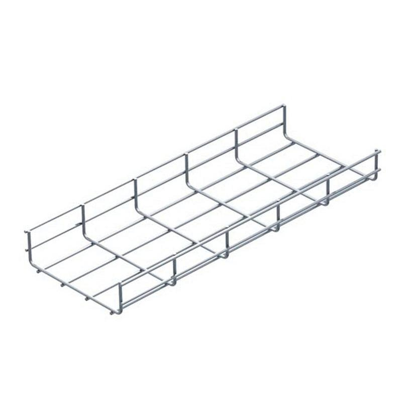 B-Line FT2X2X10 Zinc Electroplated Galvanized Steel Straight Sections Wire Basket Cable Tray 118.312 Inch x 2 Inch x 2.38 Inch Flextray™
