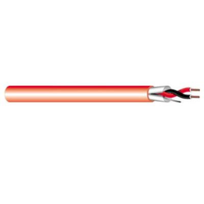 West Penn Wire 975-RD Solid Bare Copper Shielded Non-Plenum Rated Fire Alarm Cable 18/2 1000 ft Red