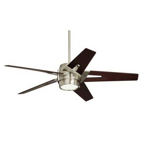 Emerson CF550DMBS Luxe Eco Ceiling Fan With Light 54 Inch 5 Blade 6 Speed Brushed Steel