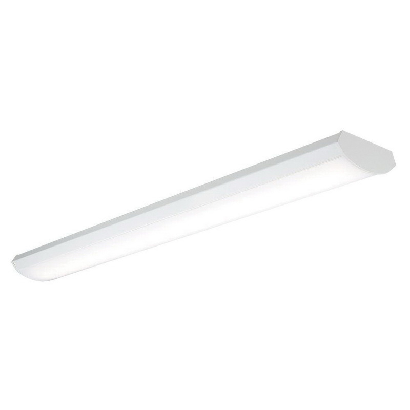 Cooper Lighting 4WPLD3140R9 Surface/Wall/Suspended Mount Low Profile LED Wraparound Fixture 39 Watt 120 Volt 95 CRI 3200 Lumens 4000K LED White Post Fab Painted Baked On White Enamel Metallux®