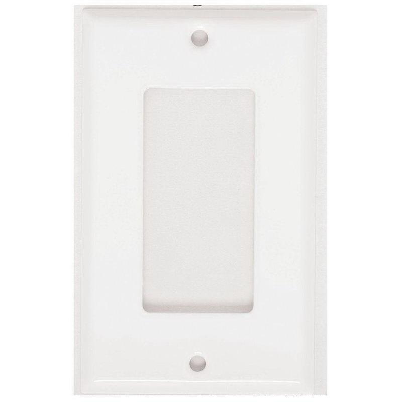 Mulberry 86401 Steel Standard Size 1-Gang GFI Block Wallplate (1) Block Duplex/GFI Receptacle White