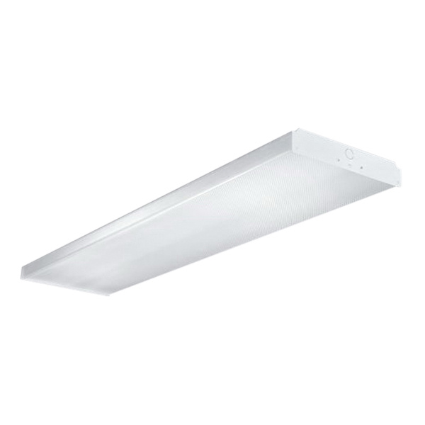 Cooper Lighting WSN-432A-UNV-EB81-U 4-Light Ceiling/Surface Mount Specification Grade Wraparound Fixture 32 Watt 120 - 277 Volt AC Baked Enamel White Metalux™