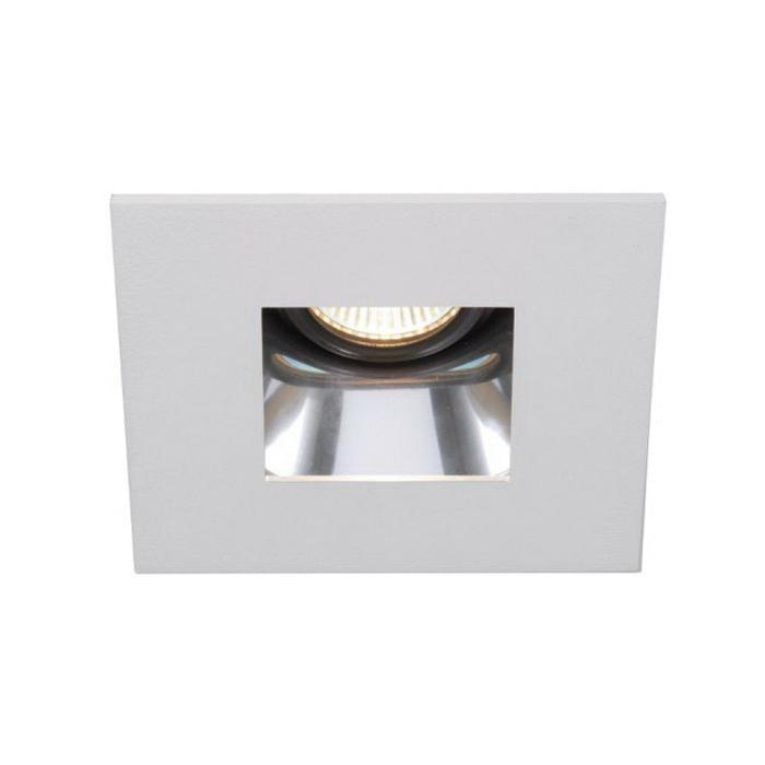 WAC Lighting HR-D412-S-SC/WT 4 Inch Down Light Specular Clear Baffle Trim Low Voltage Premium Square White