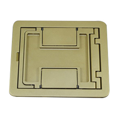 Wiremold FPCTCBS Die Cast Aluminum Rectangle Flanged Cover Assembly 6-1/2 Inch x 7-3/4 Inch Brass FloorPort™